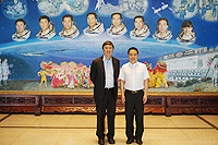 Prof. Joseph Sung, Vice-Chancellor of the Chinese University of Hong Kong (CUHK) and Director Prof. Deng Yibing of ACC