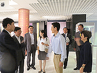 The delegation from Jilin Province visits the Art Museum