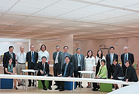 The delegation visits the University Library