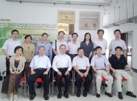 Group photo of CUHK and Jinan University representatives, including Prof. Fok Tai-fai (3rd from left; front row), Prof. Chan Wai-yee (2nd from left; front row) and Prof. Wan Chao (3rd from left, back row)