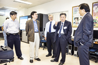 6th CAE Academicians Visit Programme:Prof. Li Guojie (2nd from right) visits the Faculty of Engineering