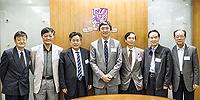 6th CAE Academicians Visit Programme: From left: Prof. Xu Jianmin, Prof. Xu Xiangde, Prof. Li Guojie, Prof. Joseph Sung, Prof. CP Wong, Prof. Jiang Jingshan and Prof. Wang Jiayao