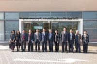 Group photo taking outside the Lo Kwee-Seong Integrated Biomedical Sciences Building, including Prof. Bai Chunli (6th from left) and other CAS delegates