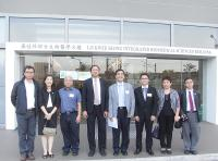 Group Photo taken during the visit: Prof. Chen Zhangliang (4th from left), Prof. Christopher Cheng (4th from right), Prof. Kenneth Lee (3rd from left), Prof. Chen Yangchao (3rd from right)