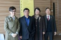 Prof. Ma Xiao-jing (2nd from left), Prof. Feng Yan (2nd from right), and Prof. Fung Kwok-pui (1st from right)