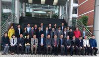 Group photo taken during the visit, including Prof. Fok Tai-fai (front row; 6th from right), Prof. Chan Wai-yee (front row; 5th from right), Prof. Kenneth Lee (front row; 3rd from left), Prof. Wan Chao (middle row; 4th from left), Prof. Chan Hsiao Chang (front row; 4th from left), Prof. Xia Yin (back row; 2nd from right) and Prof. Zhao Hui (middle row; 2nd from left)