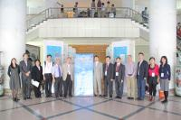 Group photo taken during the Symposium, including Prof. Chan Wai-yee (6th from left), Prof. Woody Chan (6th from right), Prof. Kenneth Lee (5th from left), Prof. Wan Chao (5th from right), Prof. Xia Yin (2rd from left) and Prof. Zhao Hui (4th from left)