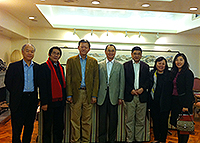 Prof. Chen Chunsheng, Vice-President of Sun Yat-sen University (3rd from left) meets with Prof. Fok Tai-Fai, Pro-Vice-Chancellor of CUHK (4th from left)