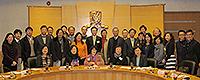 Group photo of delegates from Taiwan Cheng Kung University and CUHK representatives