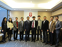 CUHK representatives welcome the delegation from Tianjin University