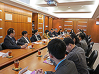The delegation from CAS meets with CUHK representatives