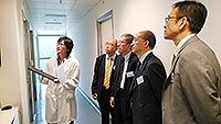 The delegation visits SBS. The visit is accompanied by Prof. Chan Wai-yee, Director of SBS