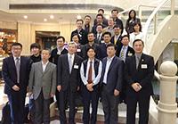 2014研究生課程說明會:東北師大馮江副校長(前排右二)與中大代表團會晤