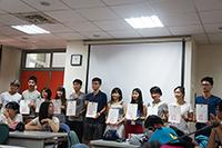CUHK students receiving certificates (Green Camp)