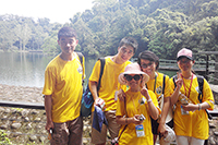 Students visits Cihu to understand the preservation of its ecological environment. (The 4th Green Summer Camp under Cross-Strait Green University Consortium)