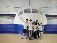 CUHK students visit the Air and Space Museum (Summer Camp on Air and Space for Beijing, Hong Kong and Macau Students 2014 , organized by Beihang University)