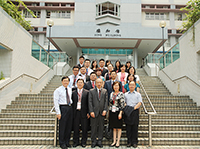 The delegation from Peking University meets with Prof. Hau Kit-tai (middle, front row), Pro-Vice-Chancellor of CUHK