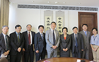 CUHK representatives welcome the delegation from Beijing Normal University
