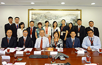 The delegation from Peking University meets with Prof. Fok Tai-fai, Pro-Vice-Chancellor of CUHK