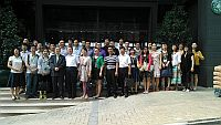 Participants attending the Summer Institute for Mainland Education Executives visit Wu Yee Sun College