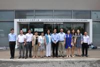 Group photo between Prof. Cho Chi-hin (6th from right) and China Pharmaceutical University delegation outside the Lo Kwee-Seong Integrated Biomedical Sciences Building