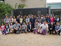 第七屆內地高校對外交流人員赴港研習班代表團訪問和聲書院,與書院院長劉允怡教授會晤