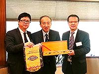Prof. Li Yansong, Vice-President of Peking University and Chairman of the Association; Prof. Hau Kit-tai, Pro-Vice-Chancellor of CUHK;  Prof. Yan Shijing, Vice-President of Sichuan University