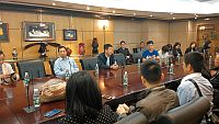 The delegation from the 7th Interflow Program for Mainland Academic Links Officers in Cooperation with the Ministry of Education visits the Liaison Office of the Central People's Government in HKSAR