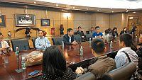 第七屆內地高校對外交流人員赴港研習班代表團訪問中央人民政府駐香港特別行政區聯絡辦公室