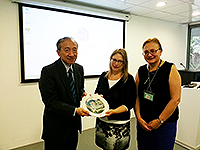 From left: Prof. Hau Kit-tai, Pro-Vice-Chancellor, Prof. Julie Sanders, Vice Provost of the University of Nottingham Ningbo China and Ms. Louise Jones, University Librarian