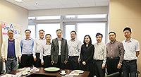 中大協理副校長馮通教授(左五)與浙江省慈溪市代表團會晤