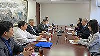 中國人民大學代表團與中大副校長許敬文教授會晤,了解大學展覽廳的籌建及文化設施管理情況