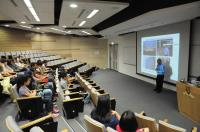 Prof. Kenneth K.H. Lee gives a brief introduction of the School to the visitors