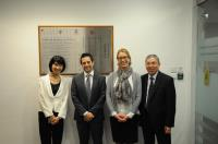 Prof. Chan Wai-yee (1st from right), Dr. Ingrid Slade (2nd from right) and Dr. Gabriele De Luca (2nd from left)