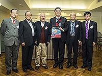 From left: Prof. Ma Zhiming, Prof. Tong Qingxi, Prof. Lin Qun, VC Prof. Joseph Sung,  Prof. Chen Yong  and Prof. Zhou Chenghu