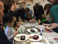 Arts and crafts class at Cambridge Botanical Garden