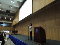 Ms. Jessica Tam, Senior Manager of HKCSS-HSBC Social Enterprise Business Centre, introduced to students the social mission of social enterprise in the College's cultural dinner.