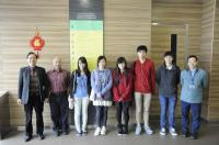 Prof. Fung (1st from left), Prof. Lee (2nd from left), Prof. Kwan (1st from right) and the visiting students