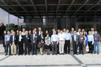 Group photo with CAS and CUHK representatives, including Prof. Fanny Cheung (front row, 7th from left) , Prof. Chan Wai-yee (front row, 2nd from left), Prof. Lin Ge (Back row, 5th from left) and Prof. Nelson Tang (back row, 2nd from left)