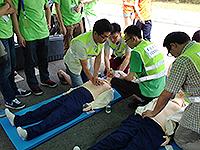 四川大學學生示範防災演習及救援工作(黃富子圖同學提供)