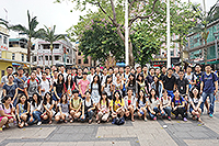 Students visit Cheung Chau (Photo provided by LO SHIH HOW, Taiwan Normal University)