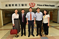 Delegates from Beijing Tsinghua Changgung Hospital meeting with Prof. James Lau, Chairman of the Department of Surgery, Faculty of Medicine