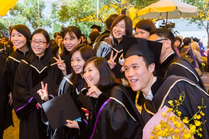 Picture taken at the Master's Degree Graduation Ceremony held in 2014