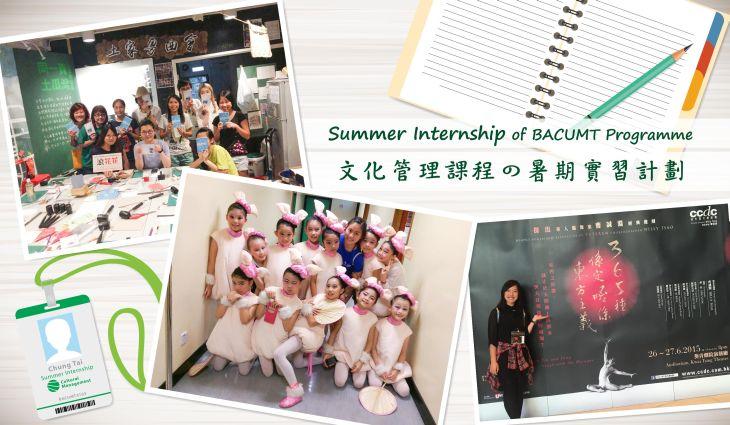 Summer Internship of CUMT Programme