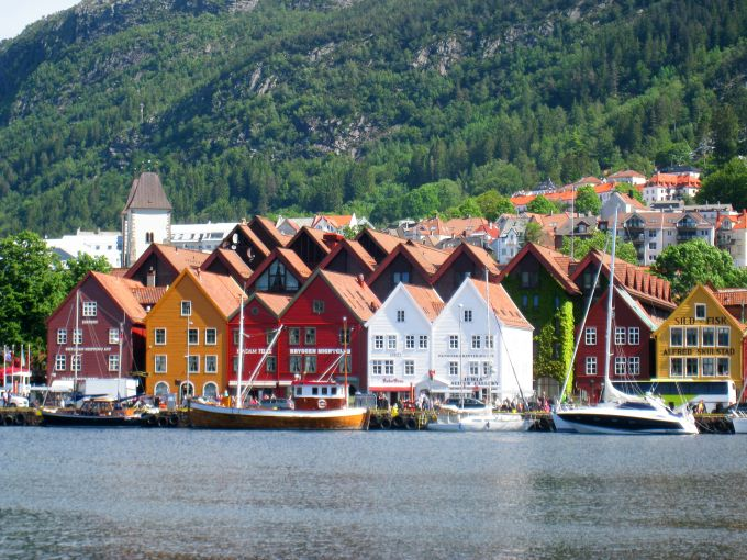 A scenic view of Bergen, Norway