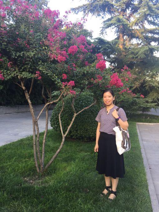 Professor Wu Ka-ming  in the Forbidden City in Beijing