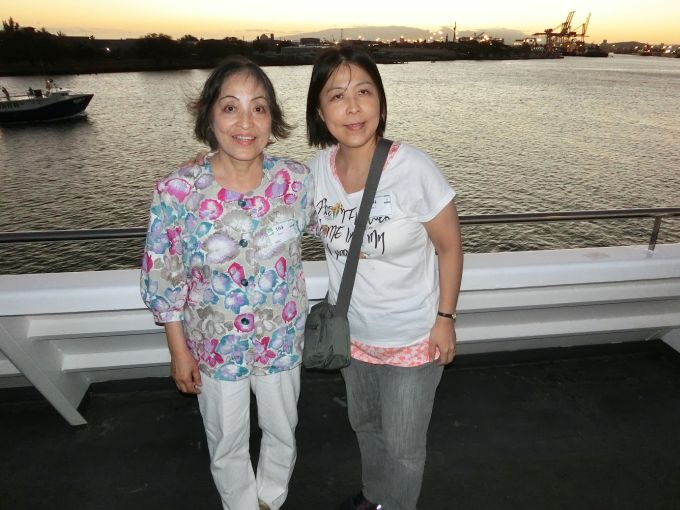 Ms Sanae Ueda and her mother enjoyed a sunset cruise